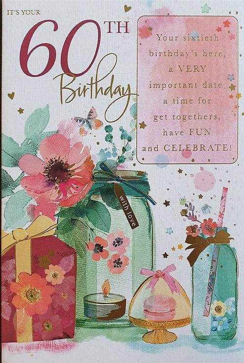 female 60th Birthday Card