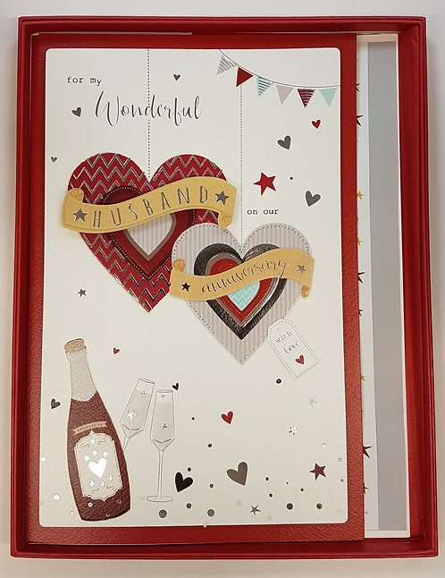 Husband Anniversary Boxed Card