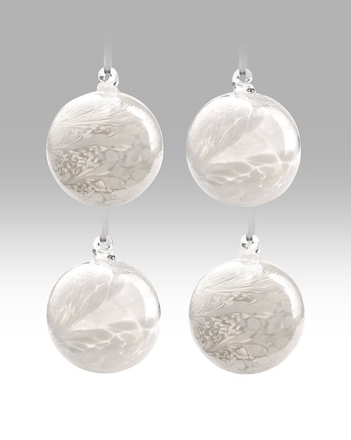 Friendship Balls White Collection 8cm By Nobile Glassware