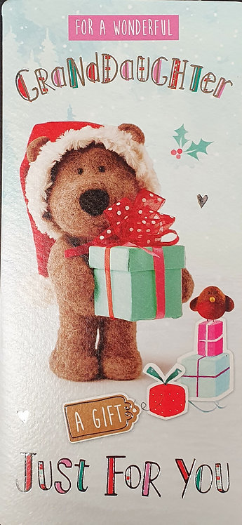 Barley Bear Christmas Money Wallet - Granddaughter