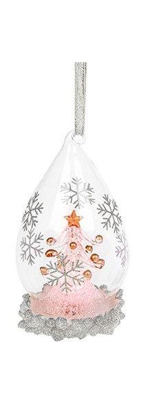 Glass Art LED Teardrop Bauble - Tree