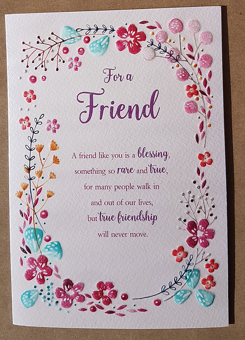 For A Friend Greeting Card Front