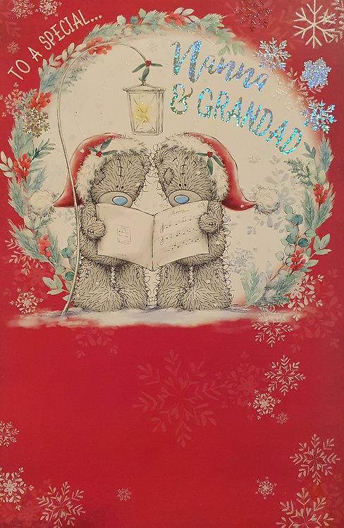 Nanna and Grandad Christmas Greeting Card - Me To You