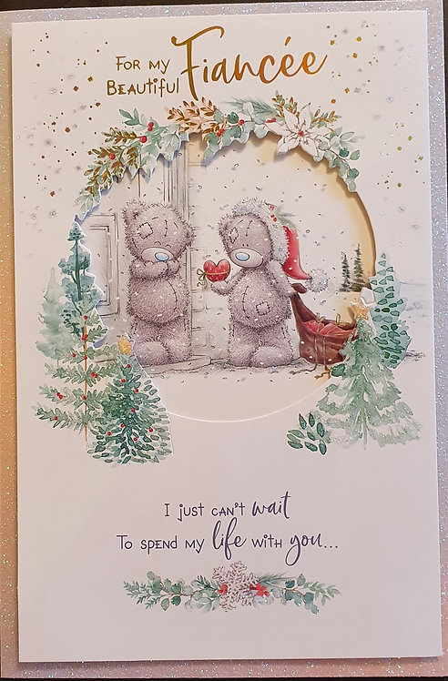 Fiancée Christmas Greeting Card - Me to You