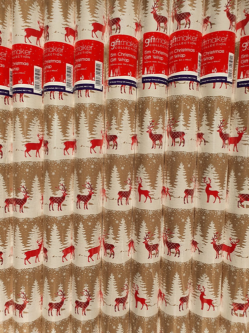 Christmas Wrapping Paper - Reindeer