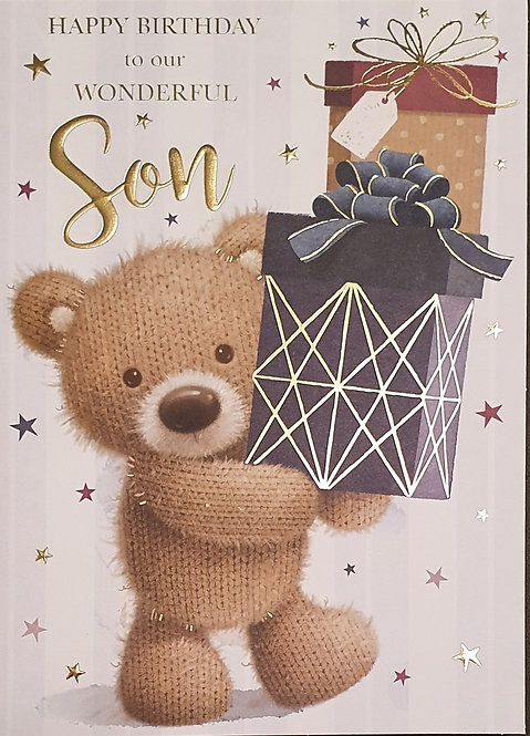 Son Birthday Greeting Card With Insert Page