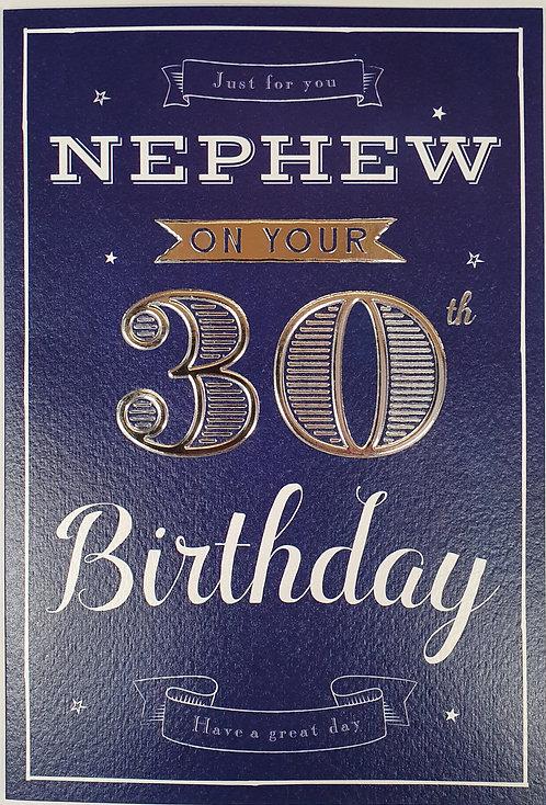 Nephew 30th Birthday Card