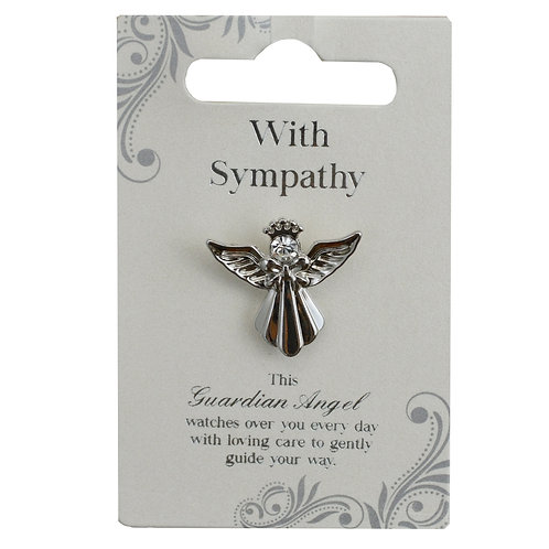 Guardian Angel Pin - With Sympathy