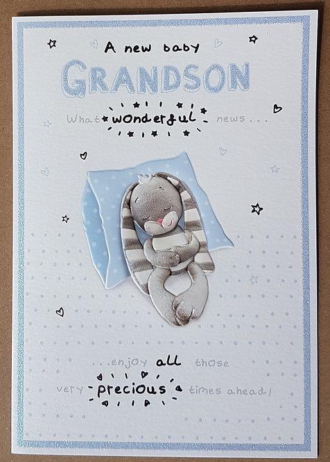 Birth of a Grandson - Greeting Card