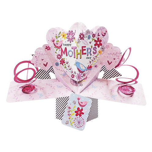 Pop Up Card - Mother's Day, Birds