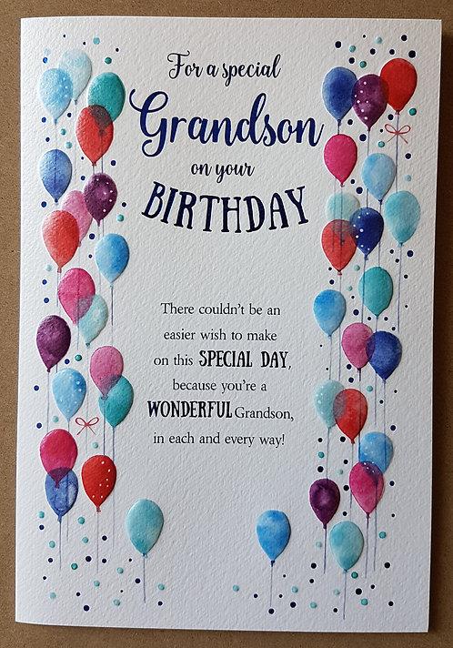 Eternal Range - Grandson Birthday Card
