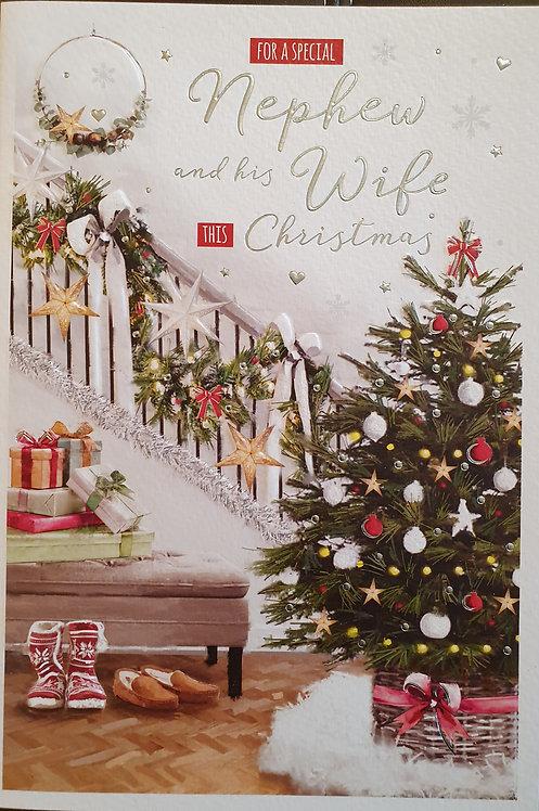 Nephew and Wife Christmas Greeting Card