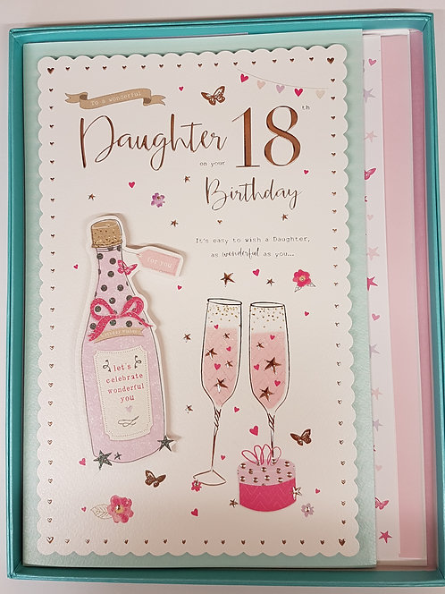 Daughter 18th Birthday Boxed Card