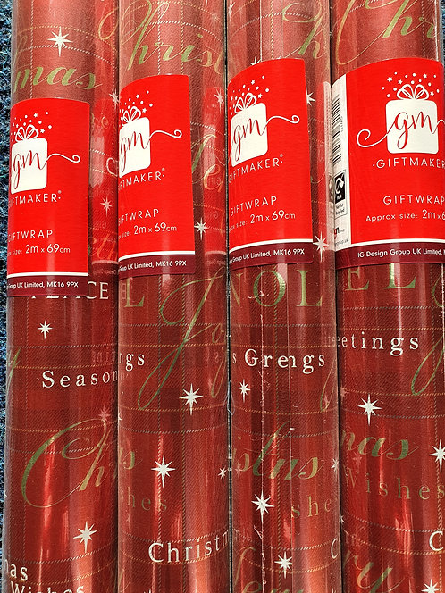 Christmas Wrapping Paper - Noel Script