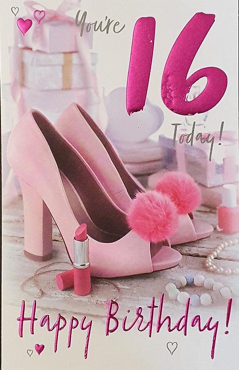 16th Female Birthday Card