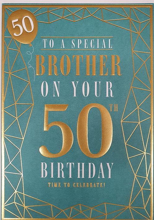 Brother 50th Birthday Greeting Card
