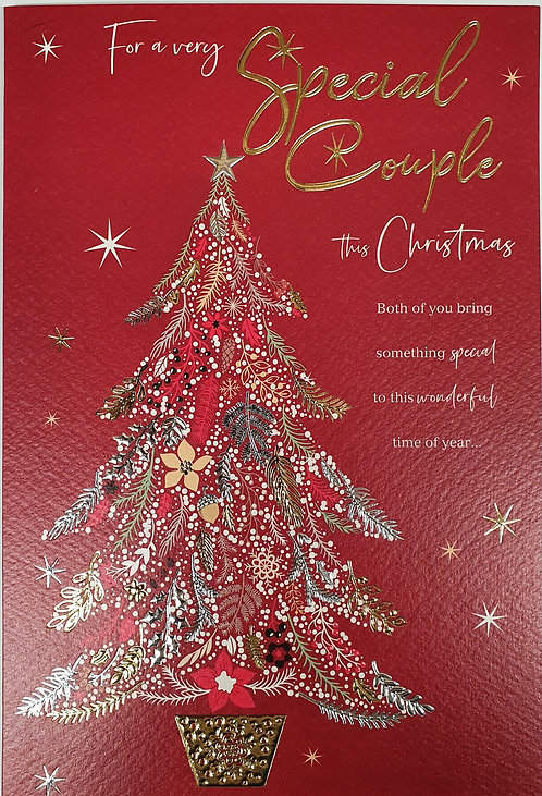 For A Very Special Couple Christmas Greeting Card With Tree