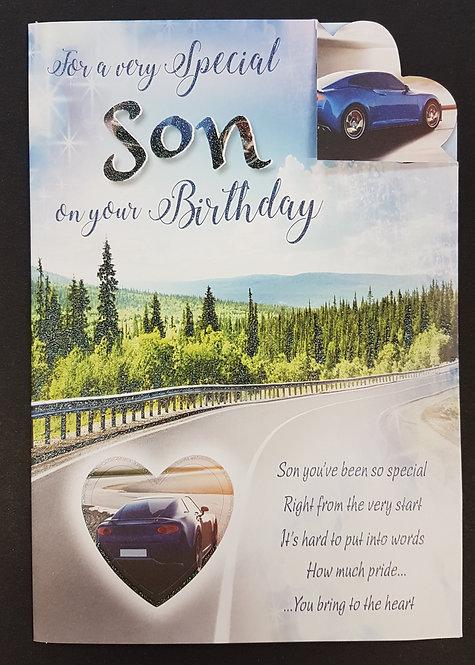 Son Birthday Card With A Car