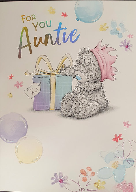 Auntie birthday Greeting Card By Me To You Tatty Teddy
