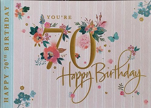 70th Female Birthday Card