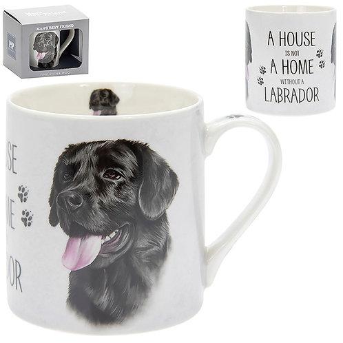 House and Home Fine China Mug - Black Labrador