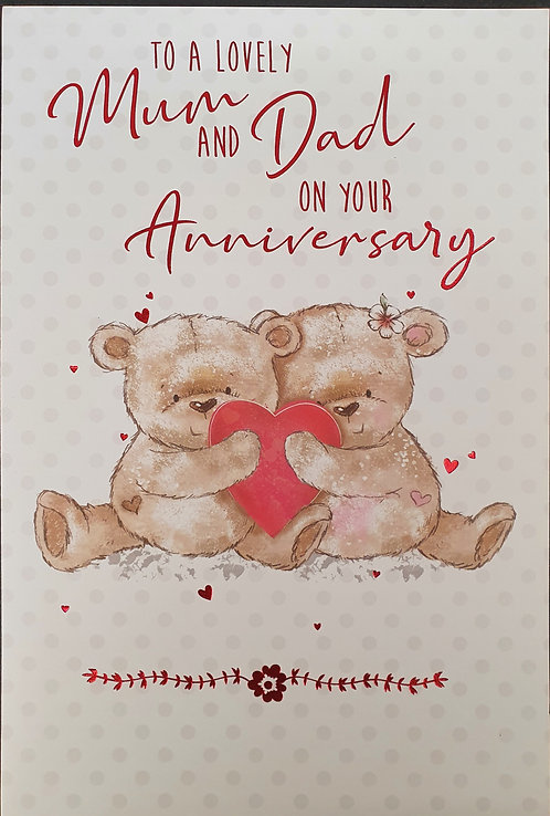 Mum And Dad Anniversary Greeting Card Front
