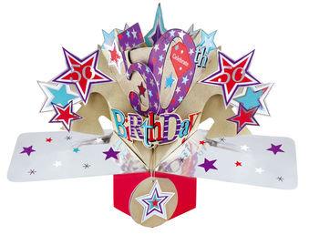 50th - Stars Pop Up Greeting Card