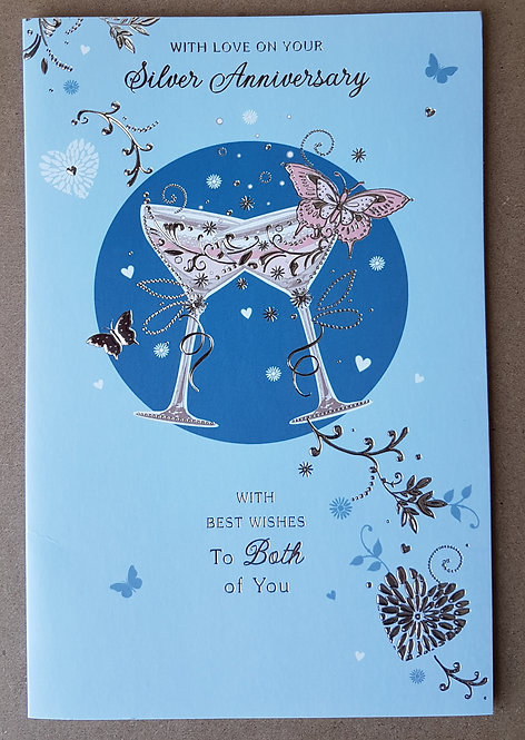 On Your Silver Wedding Aniversary Greeting Card