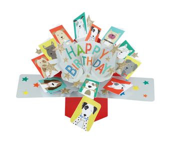 Dogs Pop Up Greeting Card