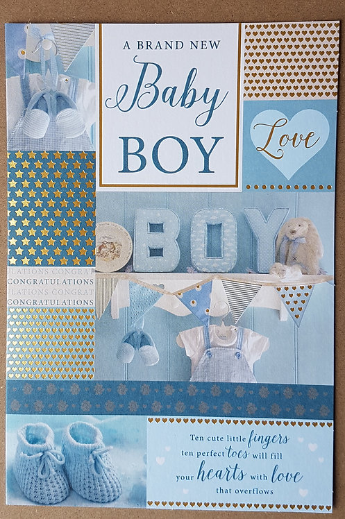 A New Baby Boy - Greeting Card