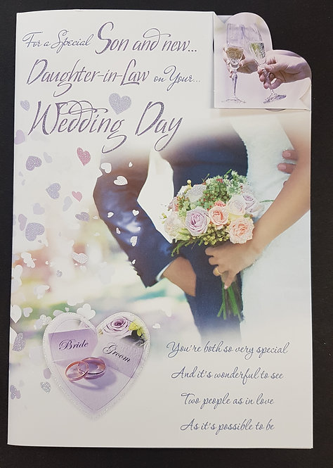 Wedding Day- Son & Daughter-in-Law Greeting Card