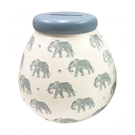 Blue Elephant - Pots of Dreams