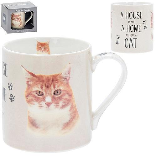House and Home Fine China Mug - Ginger Cat