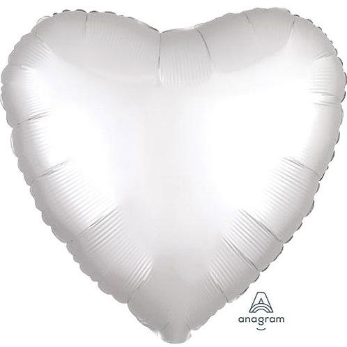 "18"" White Heart -  Anagram Balloon - Helium Filled"