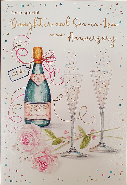 Daughter And Son-in-Law Anniversary Greeting Card Front