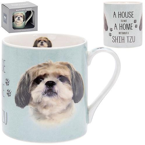 House and Home Fine China Mug - Shih Tzu