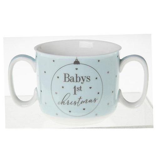 Babys 1st Christmas Mug - Blue