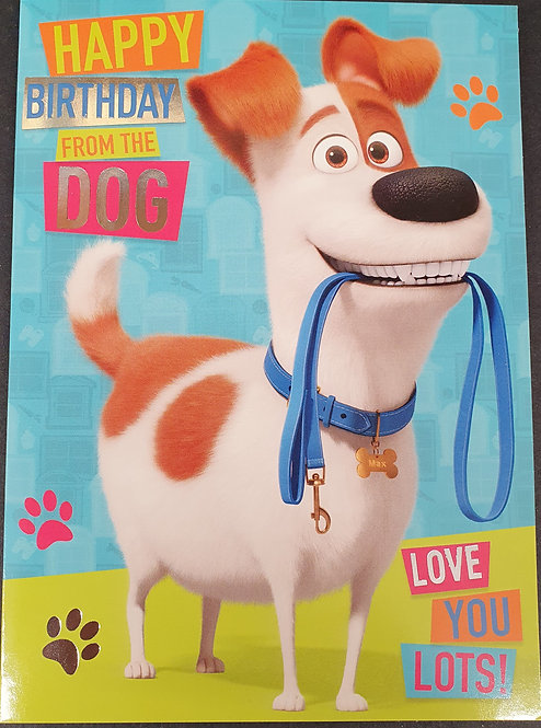From The Dog Greeting Card The Secret Life Of Pets