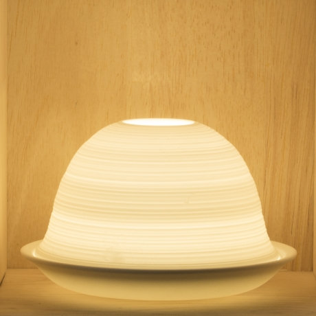 Nordic Light Candle Shade With Stripe Design