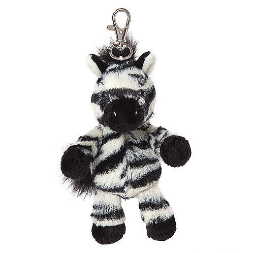 All Creatures Otis The Zebra Plush Keyring
