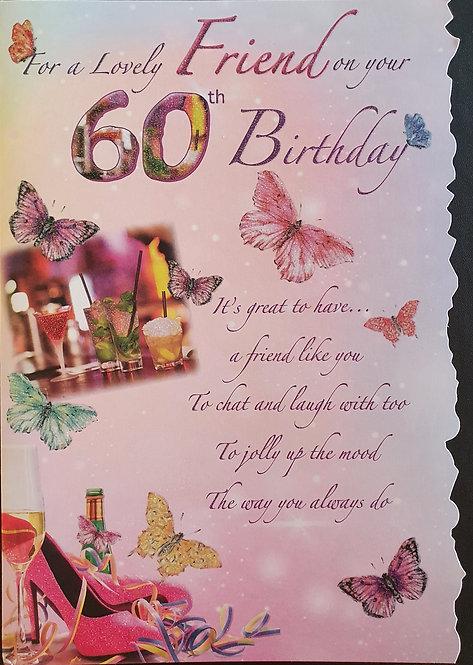 60th Birthday Greeting Card - Friend