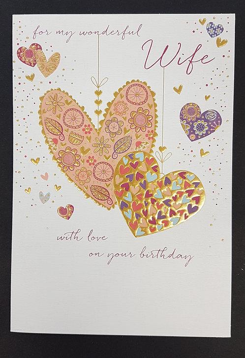 Wife Birthday Greeting Card