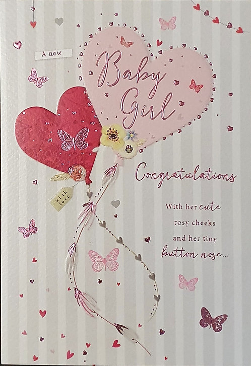 Birth of a Baby Girl Greeting Card