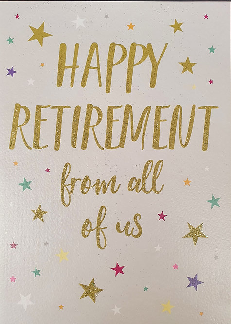 Retirement Greeting Card From All Of Us Front