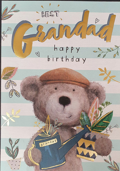 Grandad Birthday Greeting Card With Bear