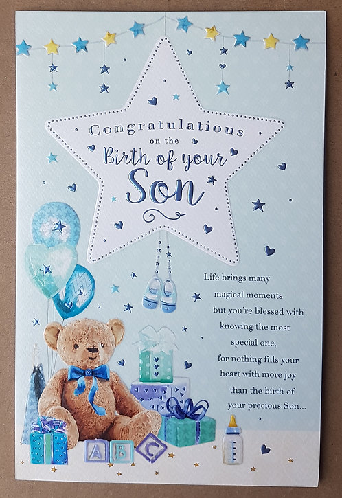 Congratulations On The Birth Of Your Son Greeting Card