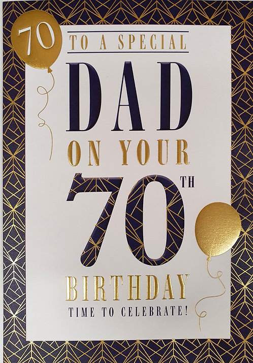 Dad 70th Birthday Card