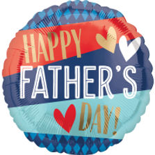 Happy Father's Day Helium Filled Round Foil Balloon