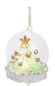 Glass Art LED Bauble - Christmas Tree (Small)