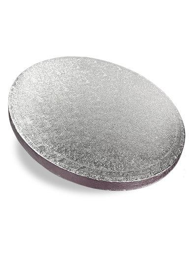8 Inch Round 1cm Thick Silver Cake Board